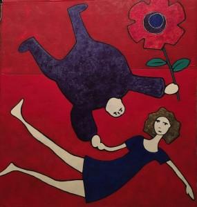 L'amour est rouge - 94x104cm