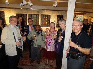Les lauréats autour d'un verre